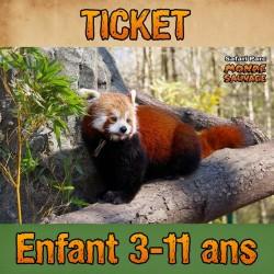 TICKET ENTRÉE ENFANT 3 À 11...
